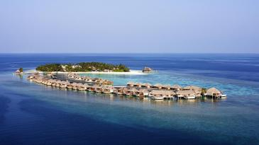 An aerial view of the W Resort & Spa- Maldives