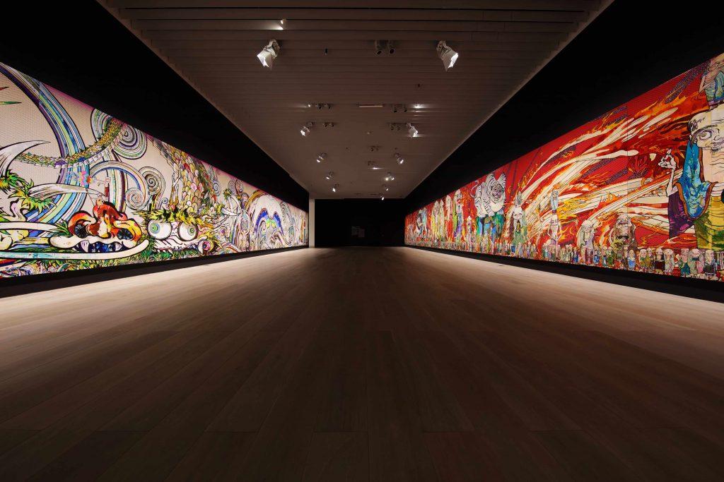 Takeshi Murakami's installation The 500 Arhats at the Mori Art Museum