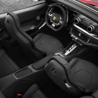 The interior of the sleek Ferrari Portofino