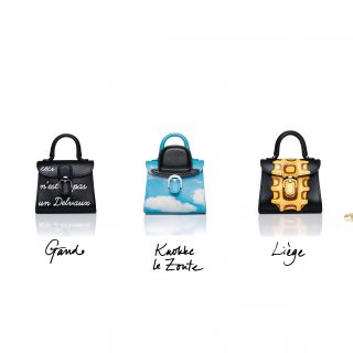 The range of seven Delvaux Miniatures Belgitude