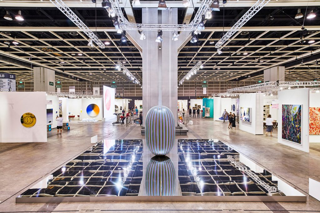 Deductive Object, a sculpture displayed at Art Basel in Hong Kong 2017's Encounters Space