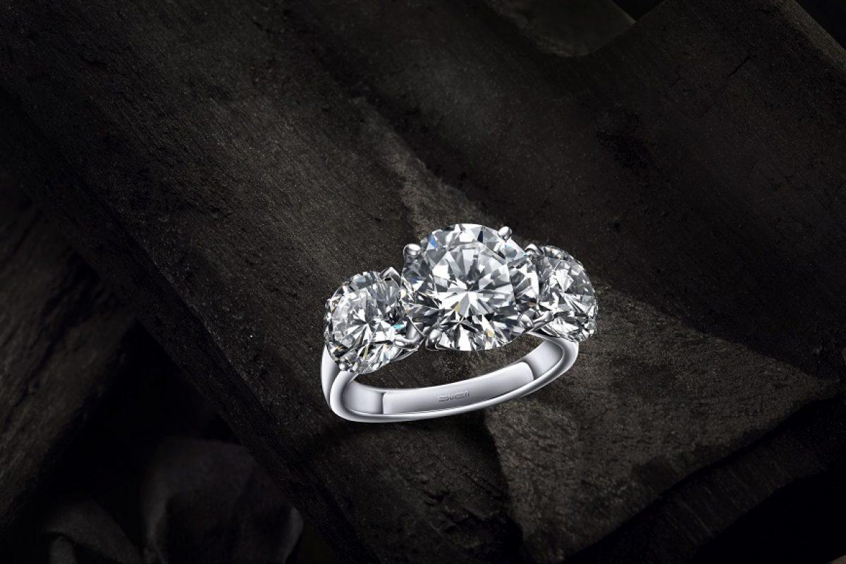 On Our Wishlist: Suen Round Brilliant Diamond Trinity Ring