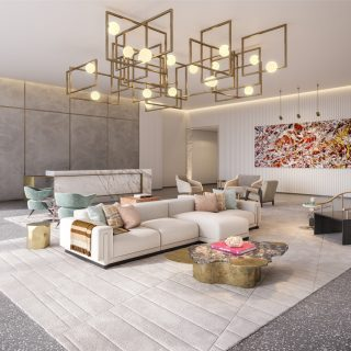Communal spaces will be furnished to the highest luxury