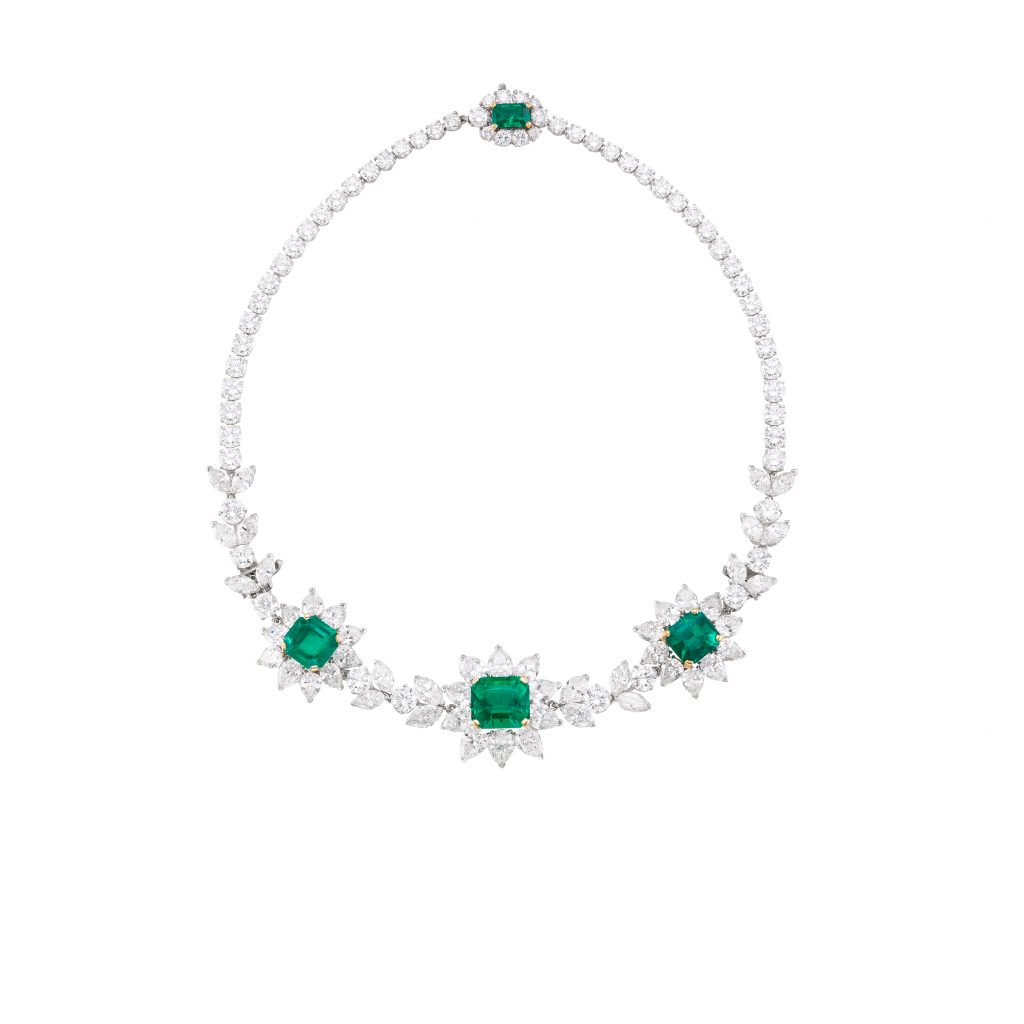 Colombian Emerald and Diamond necklace by Harry Winston Bonhams