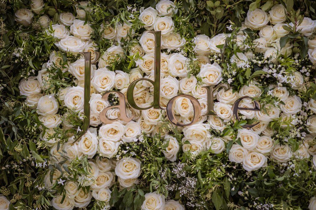J'adore flower wall
