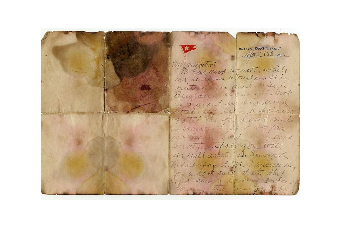 'Final Letter' written on Titanic auctioned for record £126,000
