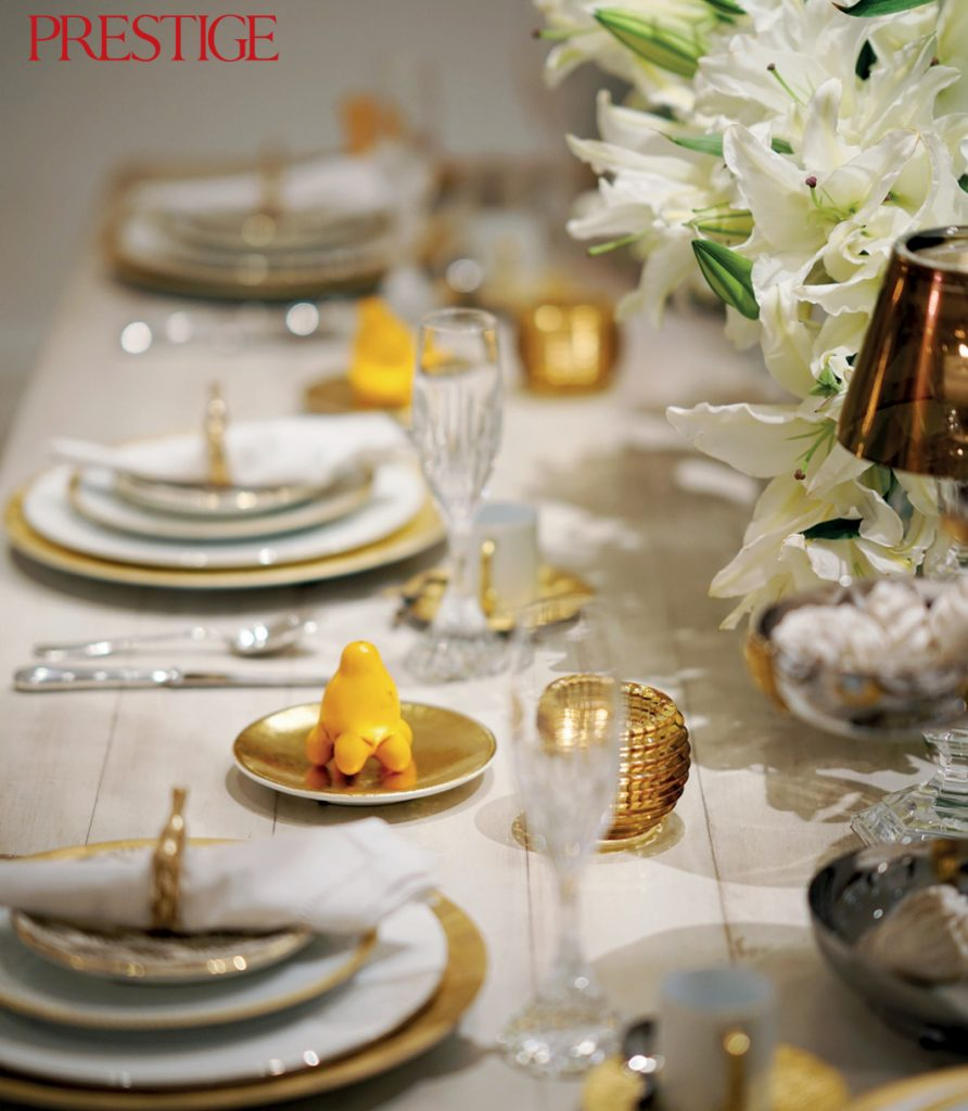 The result was a table setting full of porcelain and gold statement pieces including tableware and decorative ornaments. & Table Setting: Lunch by Design \u2013 Prestige Online \u2013 Society\u0027s Luxury ...