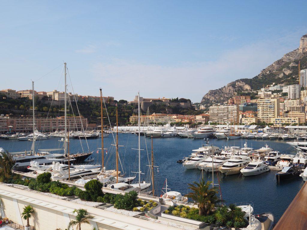 Monaco's yacht-filled harbour