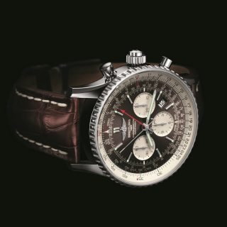 Breitling (#01-03/04): Watch lovers will love Breitling's Navitimer Rattrapante. Fitted with the patented Manufacture Breitling Caliber B03, the split-seconds chronograph is available in steel paired with a leather, crocodile or rubber strap.