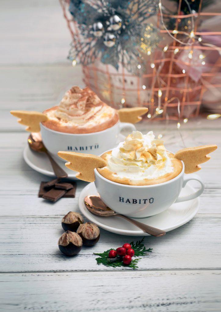 White Truffle Chestnut Latte and Chocolate at Habitu