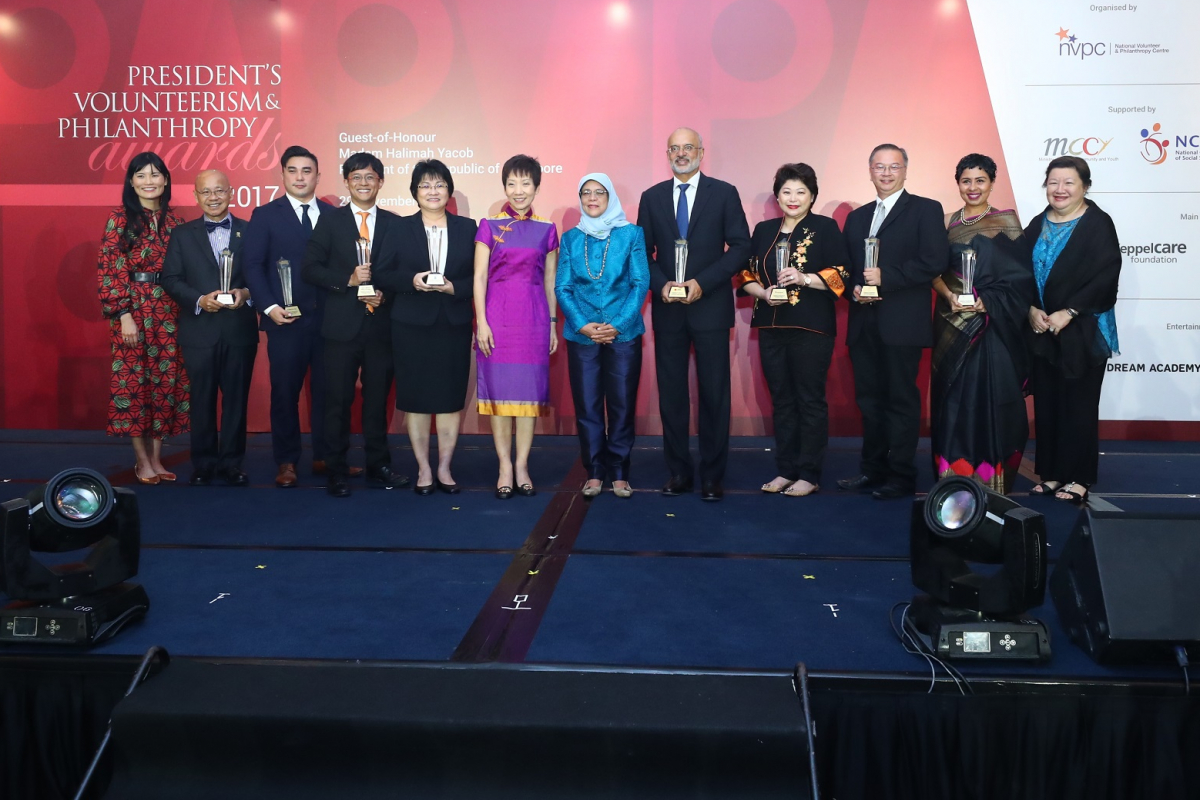 Singapore President Halimah Yacob celebrates exemplary givers