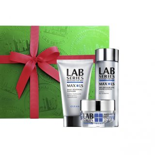 Lab Series Max LS Set - For the man in your life, or for yourself, this premium set is the solution to reclaiming younger-looking skin with a cleanser and deep-cleansing mask called Max LS Daily Renewing Cleanser; a toner to prep the skin to receive the optimal benefit of further treatment ingredients called MAX LS Skin Recharging Water Lotion; and a moisturiser that lifts and firms called MAX LS Power V Lifting Lotion. The products are formulated for mature and all other skin types.