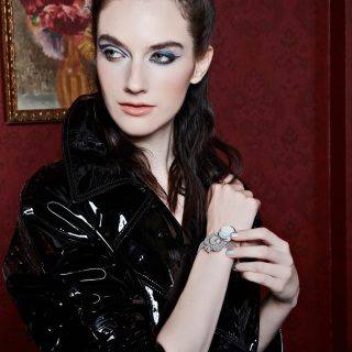 Trench Coat: Tom Ford; Secret de la Reine Watch: Breguet