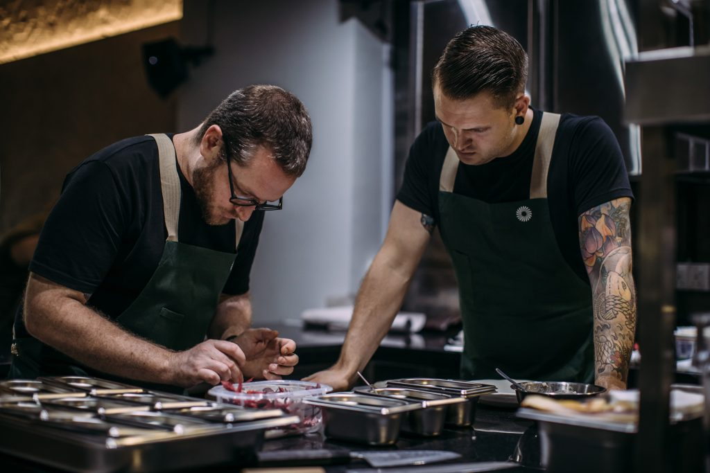 Clayton Wells and Blackwattle Head Chef Joeri Timmermans