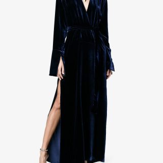 Velvet is one of the season's biggest style stories. We're backing this moody midnight blue gown from Michael lo Sordo as one of winter's stay buys – it oozes total cool. Heeled sandals in silver or gold will make the perfect accompaniment. Michael lo Sordo, available at Brownsfashion.com.