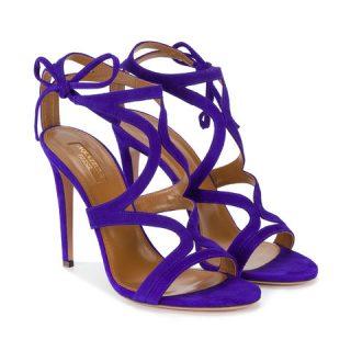 Aquazzura Vioet Suede Aurelie sandals at Farfetch.com
