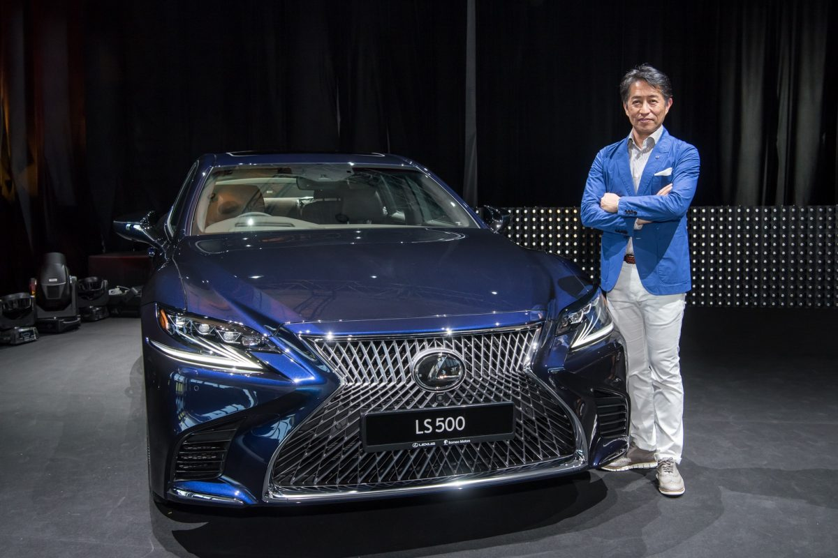 The man behind the new radical design of the 2018 Lexus LS