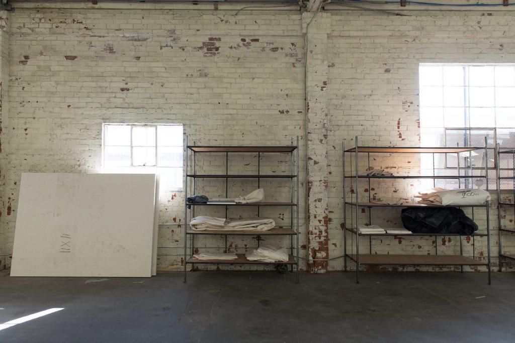 Scene from Bradford's studio