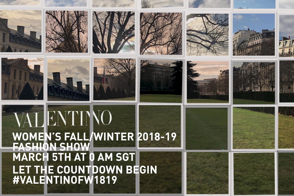 Watch Valentino Autumn/Winter 2018 Show