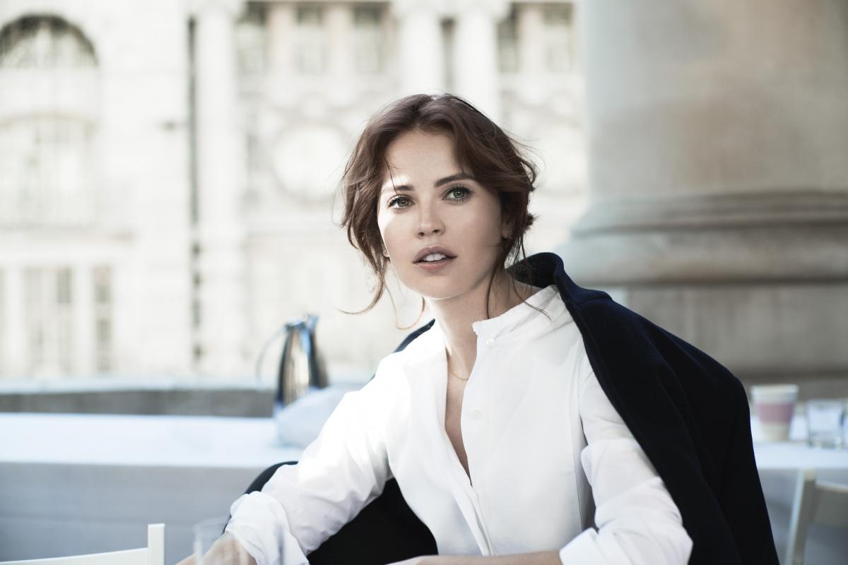 Felicity Jones as Clé de Peau Beauté Global Brand Face