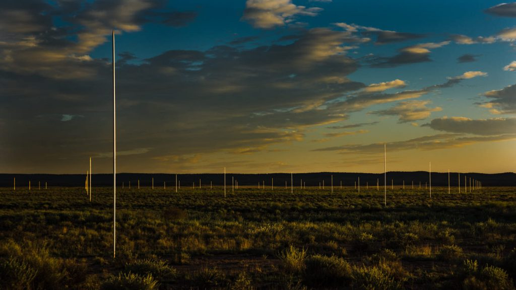 Walter De Maria's The Lightning Field, New Mexico, USA