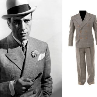 "Humphrey Bogart ""Turkey Morgan"" suit from Kid Galahad (1937)"