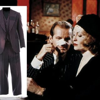 "Jack Nicholson ""Jake Gittes"" pinstripe suit from Chinatown (1974)"