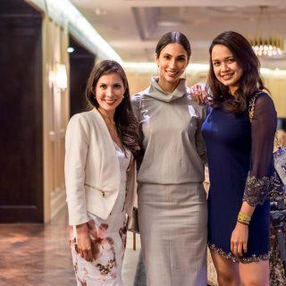 YTL Hotels Vice-President of Marketing Geraldine Dreiser, Deborah Henry and Jasmine Kamal