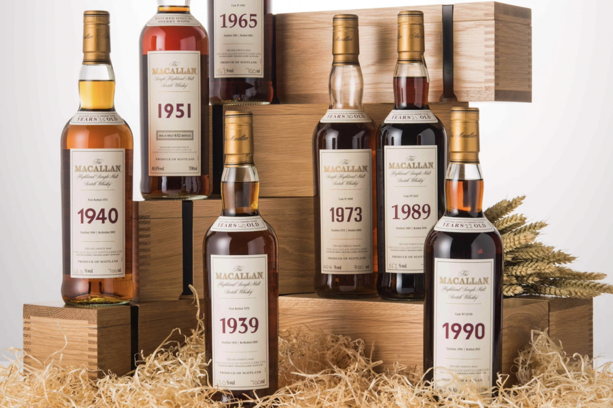 Rare Vintage Macallan 1926 Bottles Headline Wine and Whisky Auction