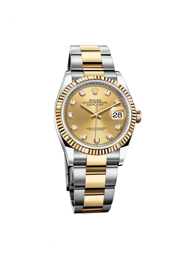 OYSTER PERPETUAL DATEJUST 36 IN OYSTERSTEEL AND YELLOW GOLD