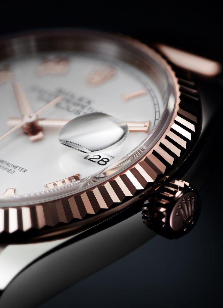 OYSTER PERPETUAL DATEJUST 36 IN EVEROSE GOLD