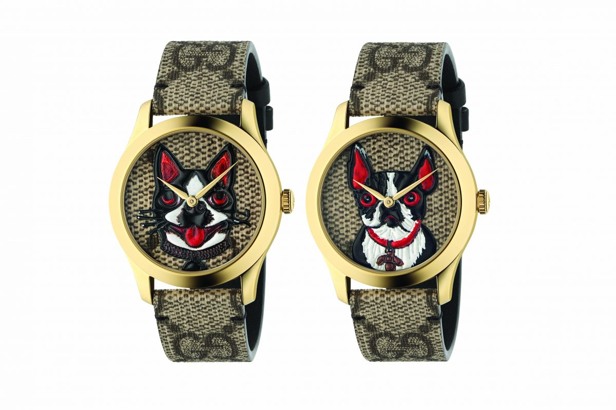 Gucci Releases Boston Terrier Watches for Thailand