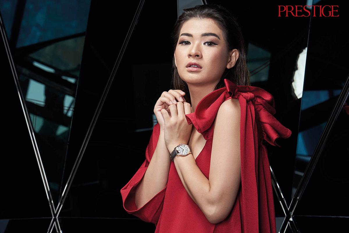 Anastasia Siantar Models the New Omega De Ville Trésor
