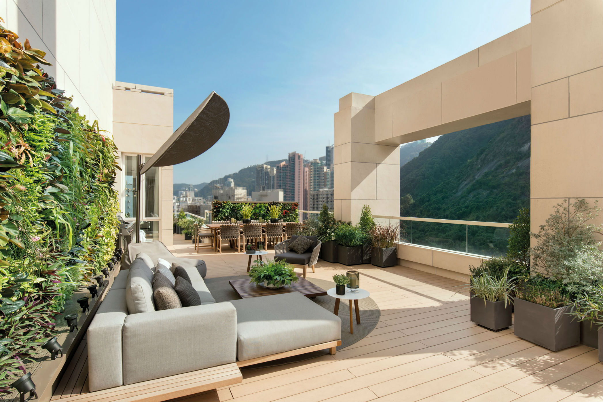 The terrace of The Morgan Penthouse