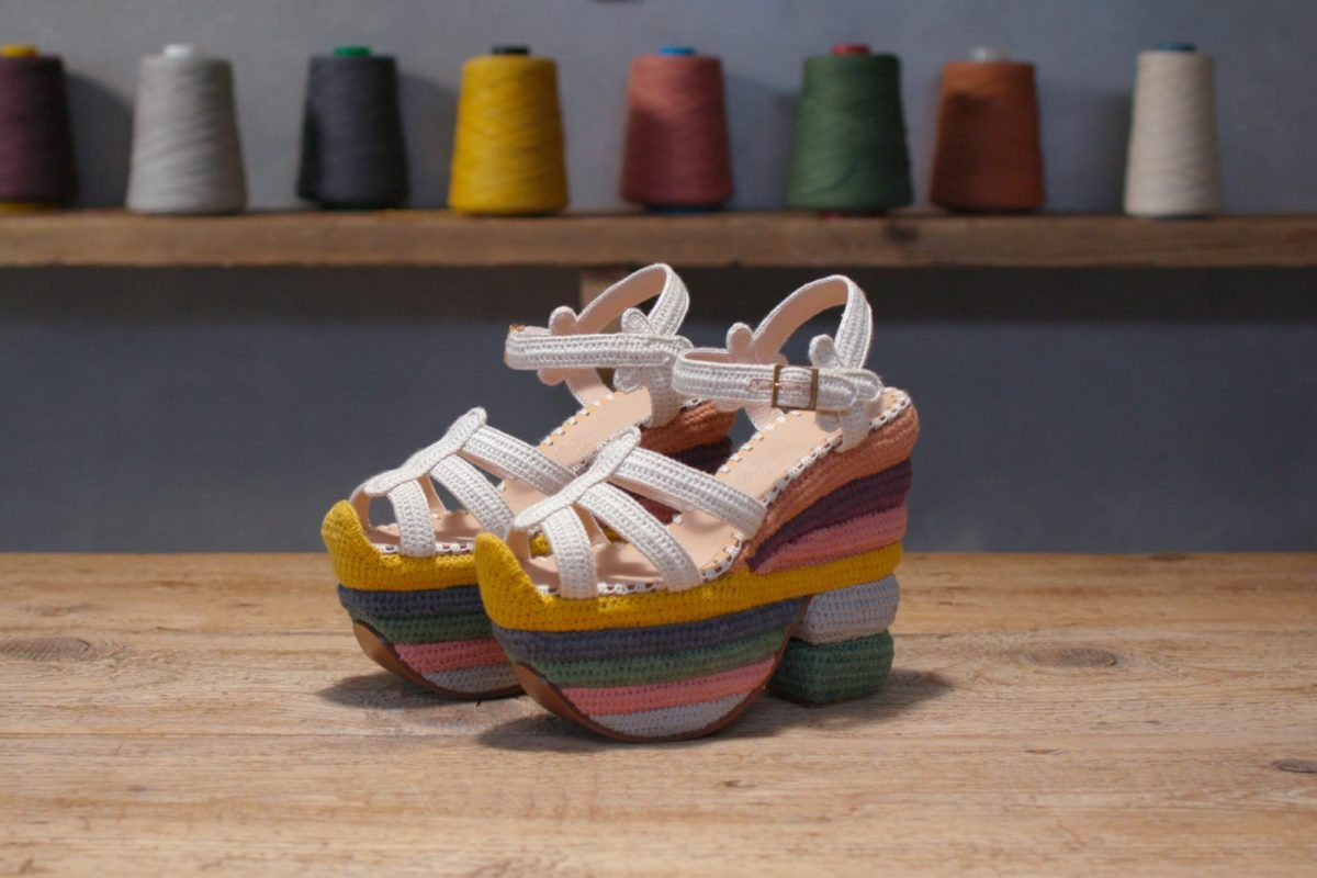 Watch: The Iconic Salvatore Ferragamo Rainbow Sandal is Redesigned With a Sustainable Twist
