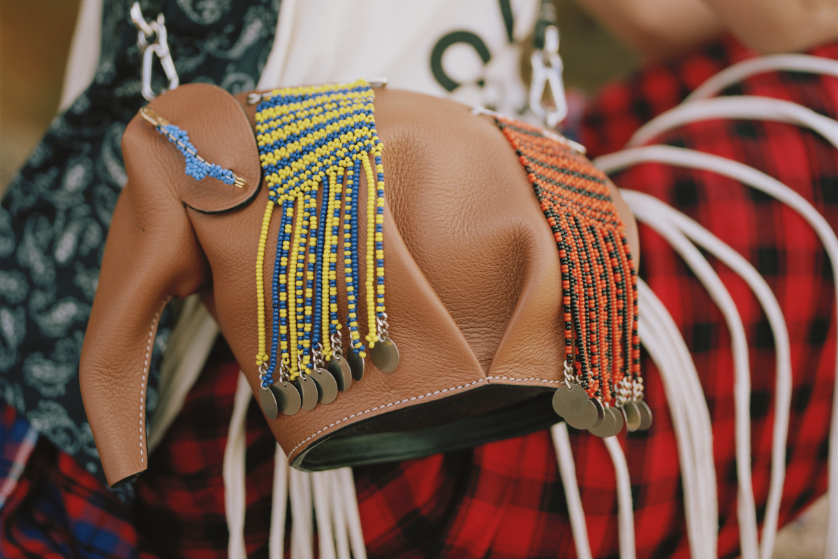 Beadwork-Laced Loewe Elephant Bag To Benefit — You've Guessed It — Elephants