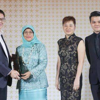 Look Boon Gee, Mdm Halimah Yacob, Ng Sor Hiang and Chua Liang Ping