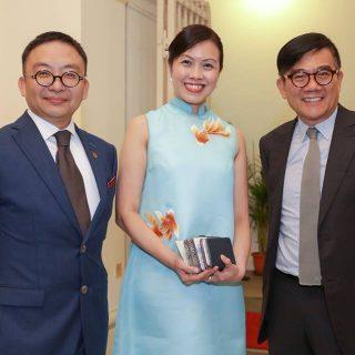 Vinson Chua, Emily Ong and Prof Ho Puay Peng