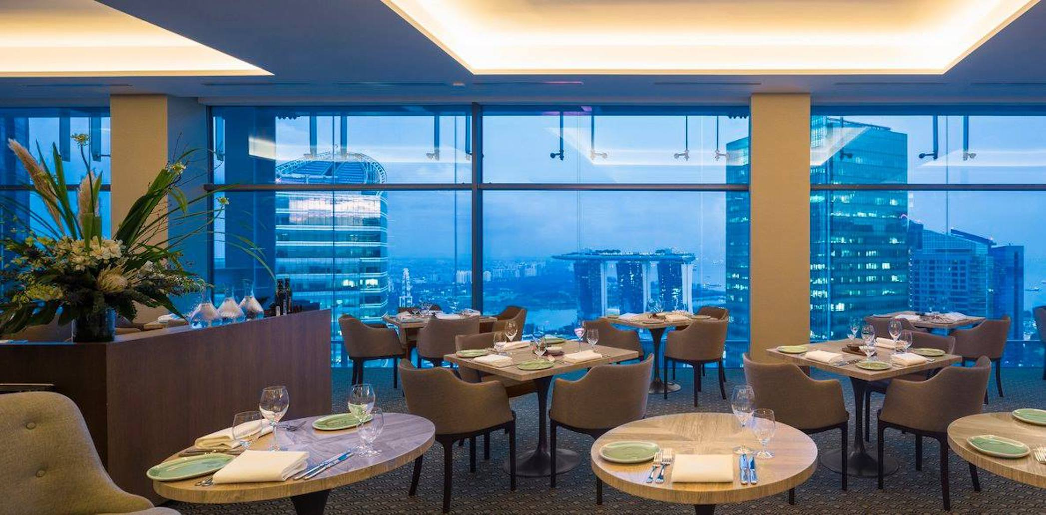 Where to watch fireworks in Singapore: Artemis Grill)