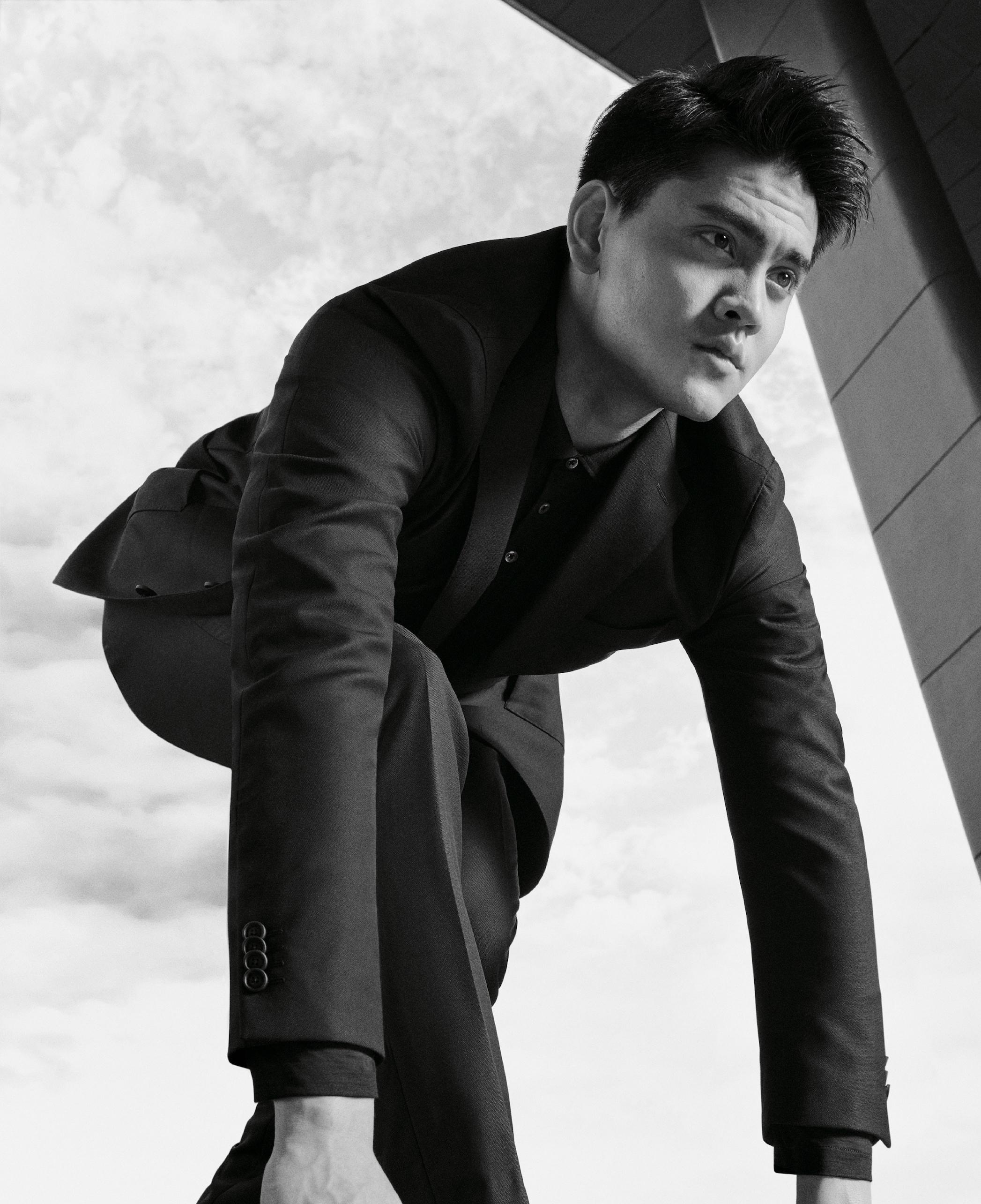 Joseph Schooling wears the Hugo Boss washable suit