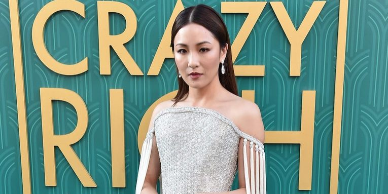 Constance Wu in Ralph & Russo, and Lorraine Scwhartz diamonds