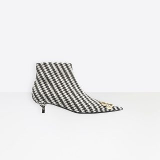 Balenciaga - BB Houndstooth Booties