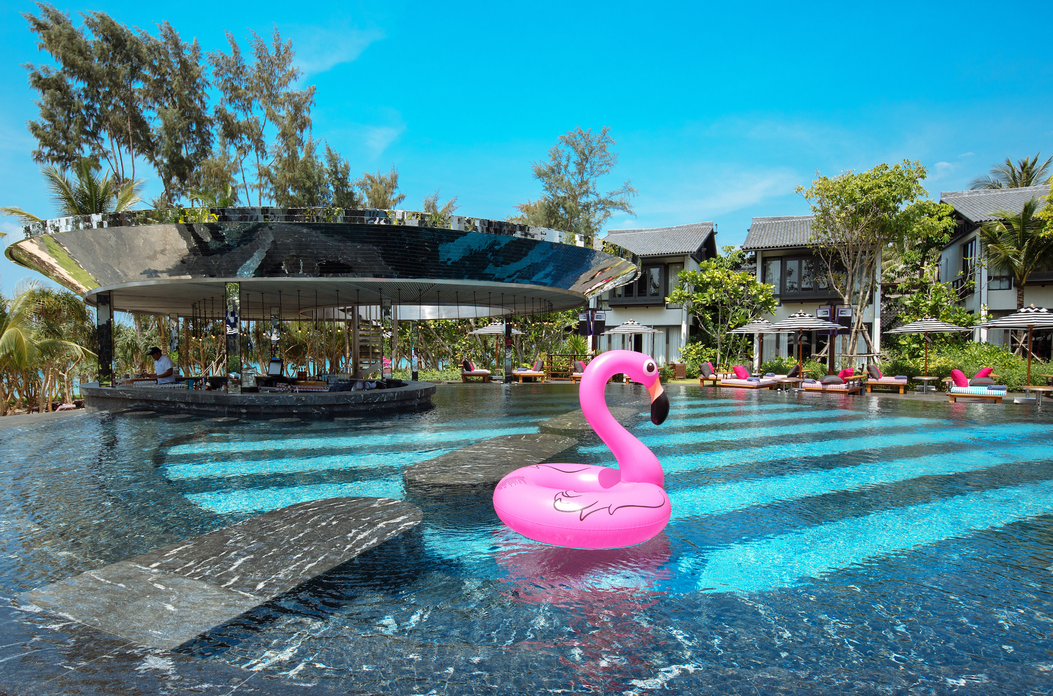 Baba Beach Club Phuket pool area