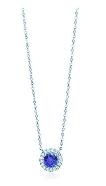 tiffany and co soleste sapphire and diamond pendant