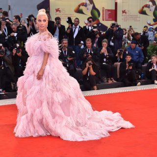 Lady Gaga in Valentino haute couture autumn 2018