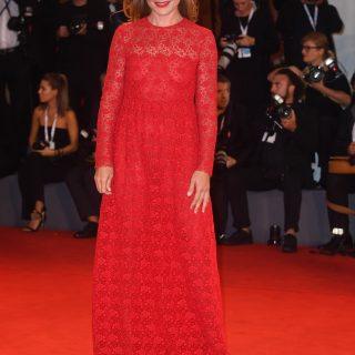 Fabrizia Sacchi in a Valentino dress resort 2019