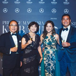 Dato Steven Tan, Datin Catherine Tan, Claire Tan and Justin Chan.