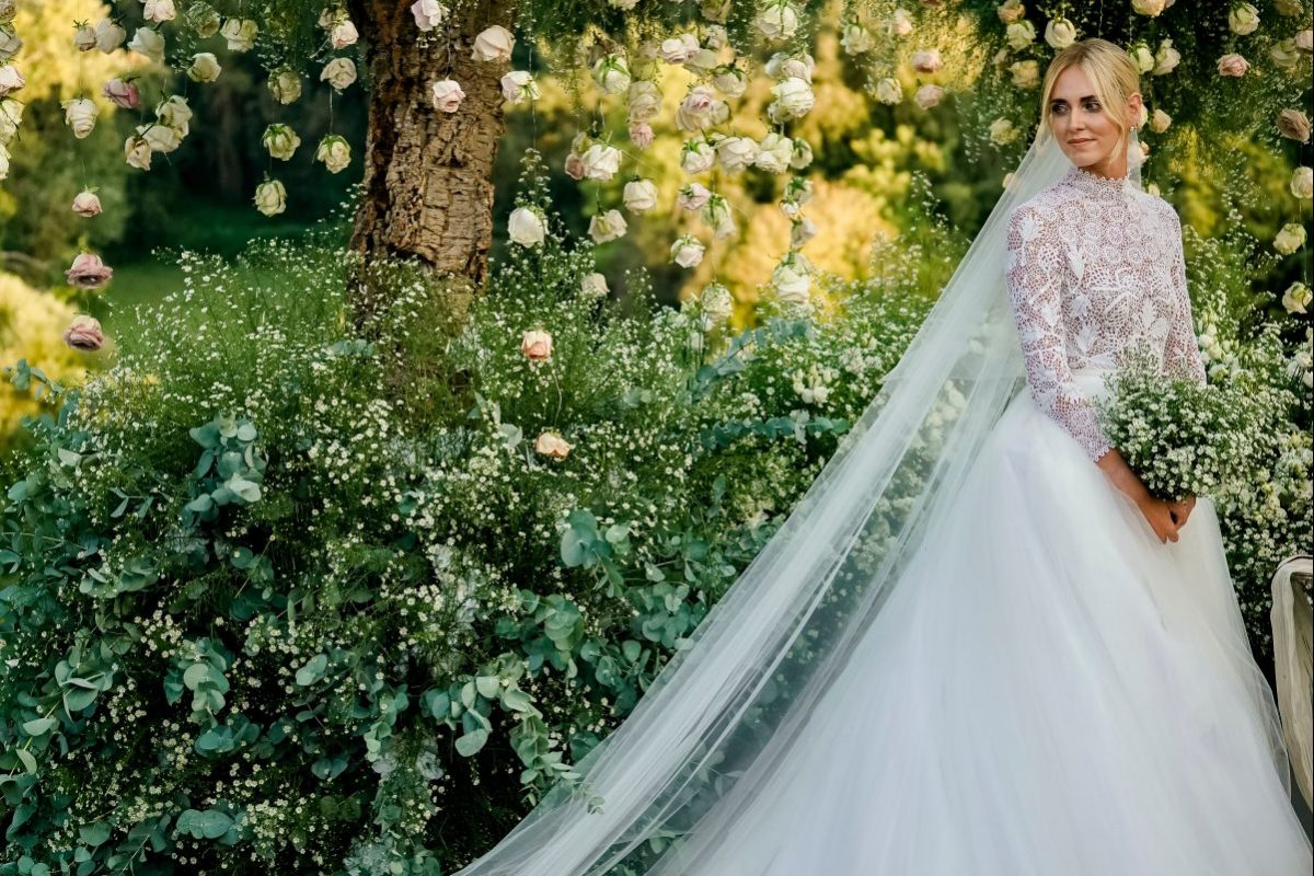 Chiara Ferragni Ties The Knot in  Custom Dior
