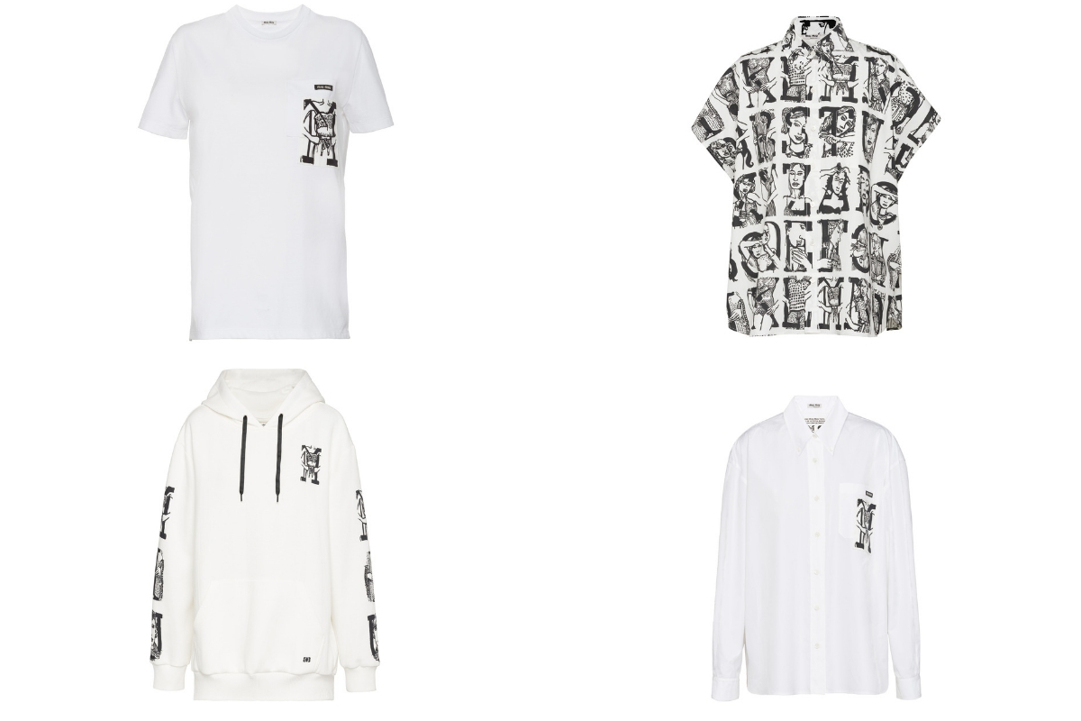Customise Your Own White Tee With The Miu Miu Type Capsule Collection