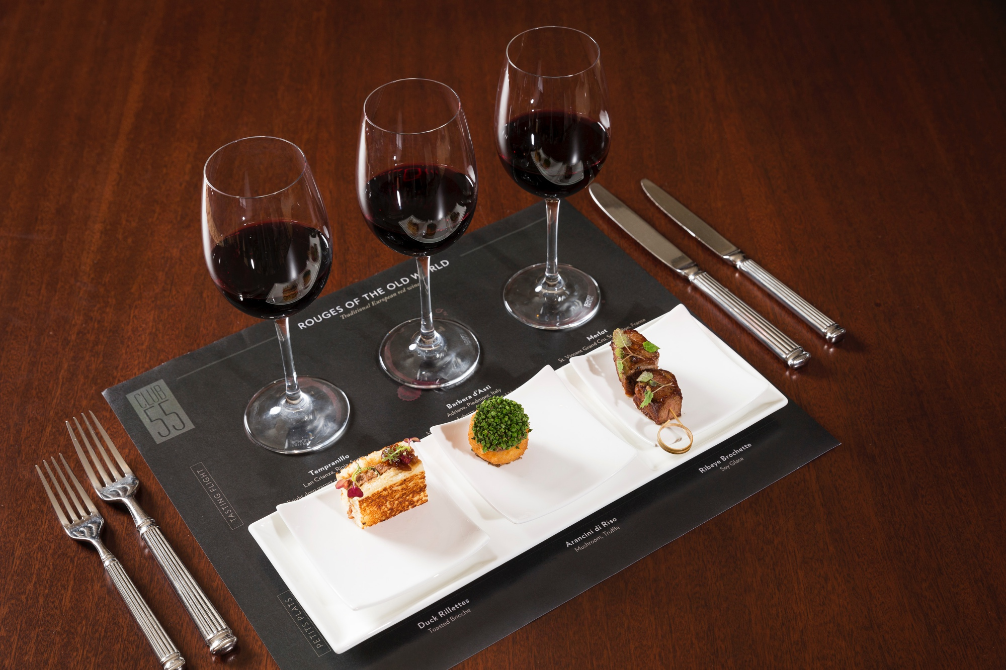 Wine Tasting flights club55